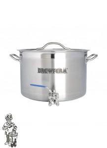 Brewferm brouwketel RVS 20 liter met bolkraan (36 x 24 cm)