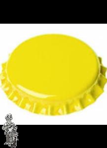 Kroonkurken 29 mm 100 Stuks. Diverse kleuren-14 geel