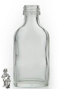 Likeurflesje 20 ml. incl. zilverschroefdop Tray 140 Stuks