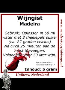 Wijngistsachet Madeira