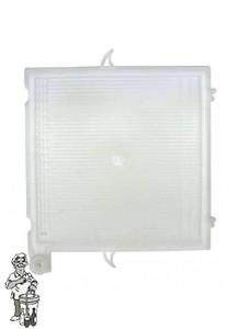 Vervangplaat MIDDEN voor RVS platenfilters 20x20