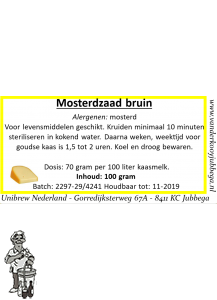 mosterdzaad bruin 100 gram