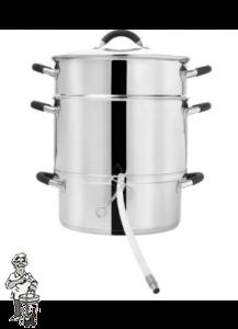 Stoomextractor 10 liter RVS