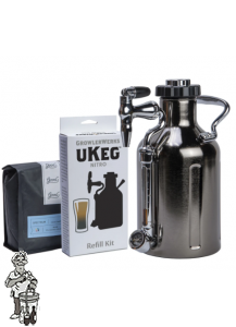 Growlerworks | uKeg 1.47 liter (12 kopjes)  Nitro Cold Brew Koffiezetapparaat Vaatje, zwart chroom