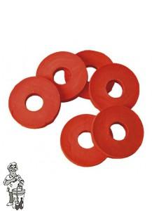 Rubberen ringen voor beugels 100 stuks.