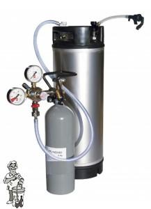 SODA-KEG DRUKVAT-SET COMPLEET  met gebruikte sodakeg