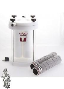 Filterhuis voor Enolmaster vacuum botteltoestel Pyrex Glas