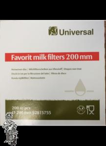 Filterwatten 20 cm diam.voor Melk 200 stuks