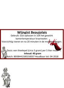Wijngist Beaujolais 40 Gram