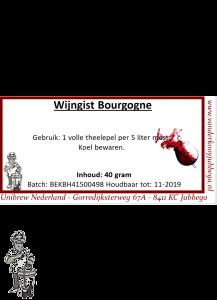 Wijngist  Bourgogne 40 gram