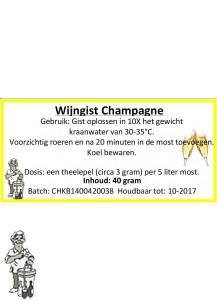 Wijngist Champagne 40 gram