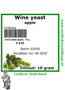 wine yeast Apple 10 gram