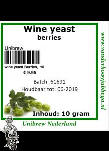 Wine yeast  10 gram. berries