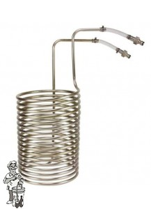 Wortkoeler RVS dompelmodel voor 50- 70 litervat