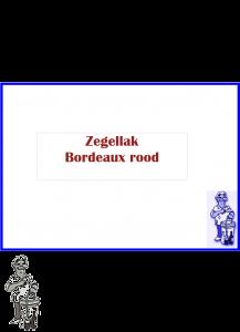 Zegellak / wax 750 gram Bordeaux rood ( nog 1 op voorraad)