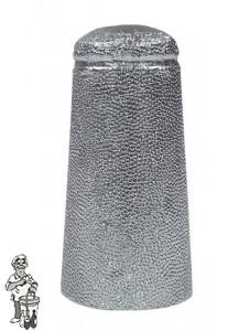 Aluminium kapsules zilver 34 x 90 mm 1000 stuks.