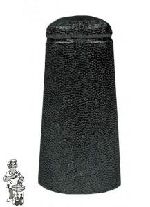 Aluminium kapsules zwart 34 x 90 mm 100 stuks.